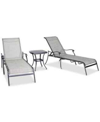 Vintage II  Aluminum 3-Pc. Chaise Set (2 Chaise Lounge & 1 End Table), Created For Macy's