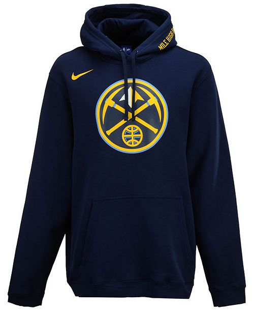 Nike Men s Denver Nuggets City Club Fleece Hoodie - Sports Fan Shop ... af58ca38a