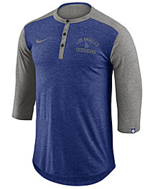 Nike Men's Los Angeles Dodgers Dry Henley Top