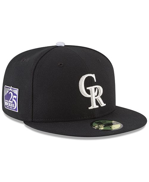 bcb1721f99a ... New Era Colorado Rockies Authentic Collection 25th Anniversary 59FIFTY  Cap ...