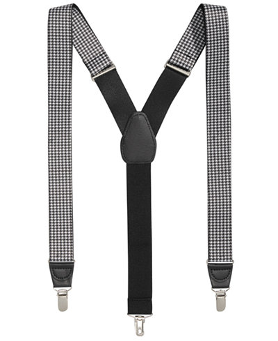 Club Room Men's Houndstooth Suspenders, Created for Macy's