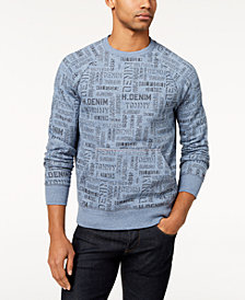 Tommy Hilfiger Denim Men's Russell Logo-Print Raglan-Sleeve Sweatshirt