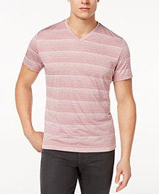 Alfani Men's Two-Tone Stripe V-Neck T-Shirt, Created for Macy's