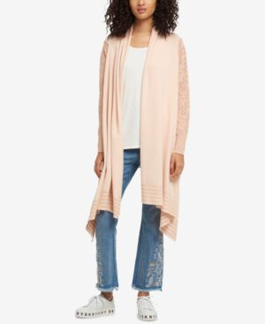 OPEN-FRONT HIGH-LOW COZY CARDIGAN