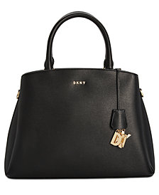 DKNY Paige Leather Large Satchel, Created for Macy's