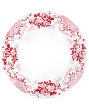 Q Squared Cambridge Rose in Crimson Dinner Plates, Set of 4 5855175