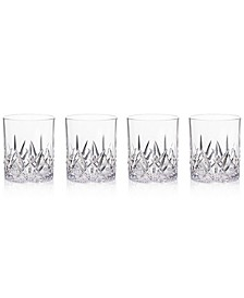 Aurora Clear Double Old-Fashioned Tumblers, Set of 4