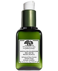 Origins Dr. Weil Mega-Mushroom Relief & Resilience Advanced Face Serum, 1 fl. oz.