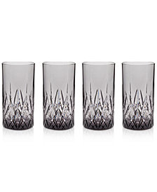 Q Squared Aurora Twilight Highball Tumblers, Set of 4