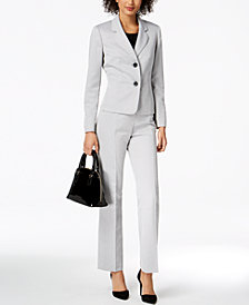 Le Suit Textured Pantsuit