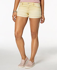 Celebrity Pink Juniors' Colored Denim Shorts