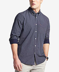 Tommy Hilfiger Men's Lowe Neat Floral-Print Pocket Shirt, Created for Macy's
