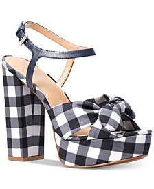 MICHAEL Michael Kors Pippa Gingham Platform Dress Sandals