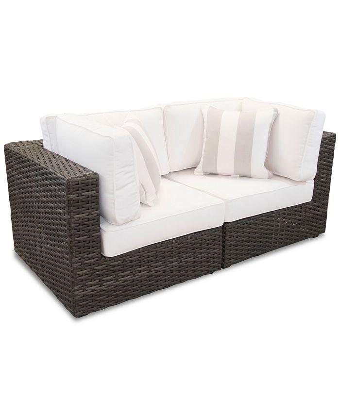Furniture - Viewport Outdoor 2-Pc. Modular Seating Set (2 Corner Units) with Sunbrella® Cushions