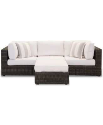 Viewport Outdoor 4-Pc. Modular Seating Set (2 Corner Units, 1 Armless Unit and 1 Ottoman), Created for Macy's