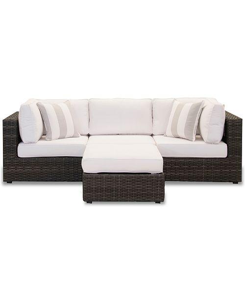 Furniture Viewport Outdoor 4 Pc Modular Seating Set 2 Corner Units 1