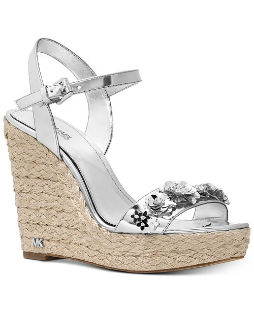 ca9b9533a168 Michael Kors Jill Espadrile Wedge Sandals   Reviews - Sandals   Flip ...