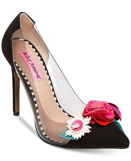 Betsey Johnson Jade Pointy Toe Pumps Women's Shoes Xr1kBt0