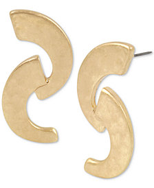 Robert Lee Morris Soho Gold-Tone Double-Curve Drop Earrings