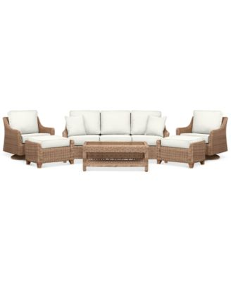 Willough Outdoor 6-Pc. Set (1 Sofa, 2 Swivel Gliders, 1 Coffee Table & 2 Ottomans), Created for Macy's