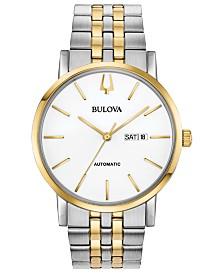 Bulova Men's Automatic American Clipper Two-Tone Stainless Steel Bracelet Watch 42mm