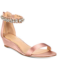 Jewel Badgley Mischka Ginger Evening Wedge Sandals