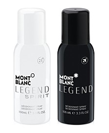 Choose your Complimentary Deodorant Spray with any large spray purchase from the Montblanc Legend fragrance collection