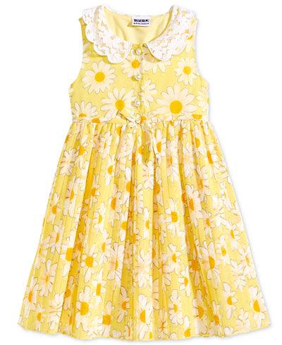 Blueberi Boulevard Daisy Print Shirtdress, Little Girls