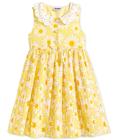 Blueberi Boulevard Daisy Print Shirtdress, Toddler Girls