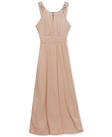 Rare Editions Embellished Neck Maxi Dress, Big Girls Plus