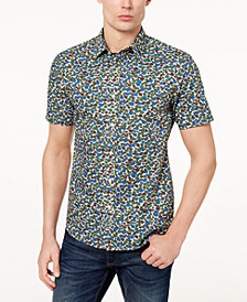 Michael Kors Men's Rex Modern Camouflage-Print Shirt
