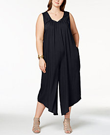 Love Scarlett Plus Size Peekaboo Sleeveless Jumpsuit