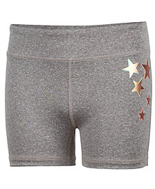 Ideology Gold Star Compression Shorts, Big Girls, Created for Macy's
