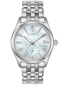 Citizen Eco-Drive Women's Corso Stainless Steel Bracelet Watch 36mm
