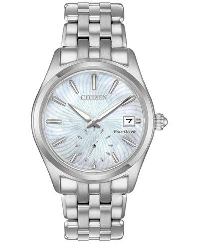 Citizen Eco-Drive Women's Corso Stainless Steel Bracelet Watch 36mm