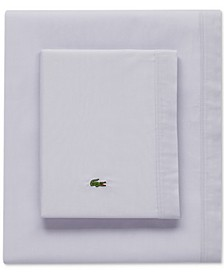 Lacoste Solid Cotton Percale Twin Sheet Set