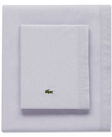 Lacoste Solid Cotton Percale Pair of King Pillowcases
