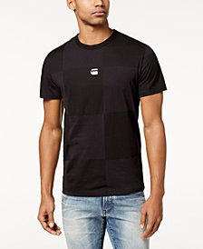 G-Star RAW Men's RC Jollu Tonal Check Logo-Print T-Shirt