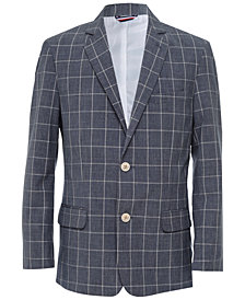 Tommy Hilfiger Striated Windowpane Blazer, Big Boys