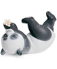 Lladro Collectible Figurine, A Joyful Panda