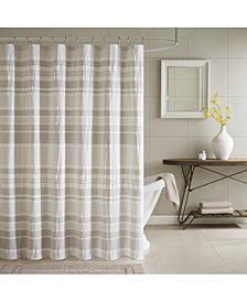 "INK+IVY Lakeside Cotton 72"" x 72"" Yarn-Dyed Stripe Seersucker Shower Curtain"