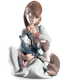 Lladro Collectible Figurine, Cat Nap