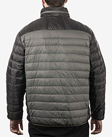 Men's Colorblocked Packable Down Jacket