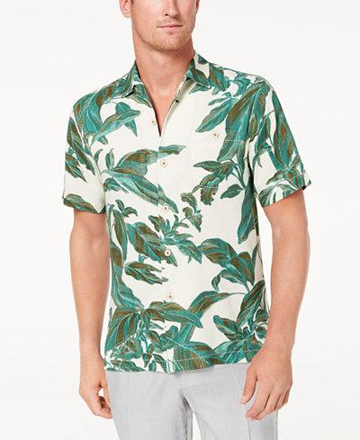 Tommy Bahama Men's Royal Botanical-Print Silk Shirt