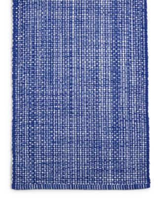 "72"" Blue Woven Cotton Table Runner, Created for Macy's"