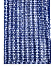 "CLOSEOUT! 72"" Blue Woven Cotton Table Runner, Created for Macy's"
