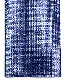 "Martha Stewart Collection 72"" Blue Woven Cotton Table Runner, Created for Macy's"