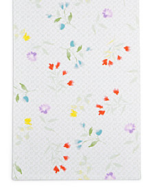 "CLOSEOUT! Martha Stewart Collection 72"" Floral Cotton Table Runner, Created for Macy's"