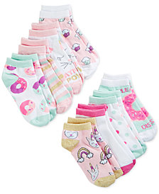 Berkshire 8-Pk. Graphic-Print Socks, Little Girls & Big Girls