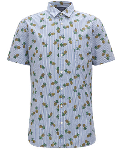 BOSS Men's Slim-Fit Printed Cotton Sport Shirt